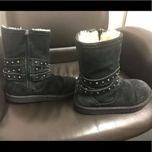 UGG suede black boots size 5